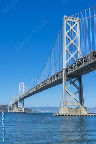 Spoed Foto op Canvas Brug Famous Oakland Bay Suspension Bridge in San Francisco, California, USA.