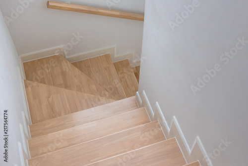 Fotobehang Trappen wooden staircase interior decoration