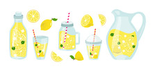 Lemonade And Lemons Summer Set...