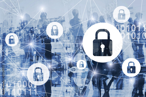 cyber security or gdpr concept, cybersecurity, personal information