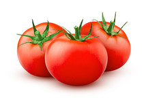 Tomato Isolated On White Background, Clipping Path, Full Depth Of Field