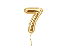 Numeral 7. Foil Balloon Number...