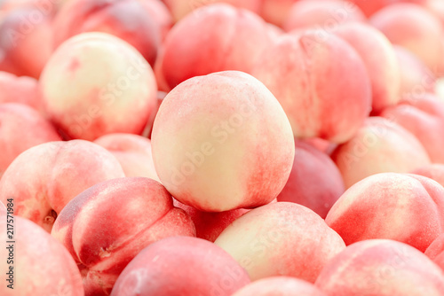 Peach close up fruit background