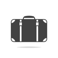 Suitcase Icon Vector Isolated