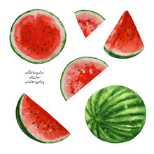 Watercolor Watermelons, Paint ...