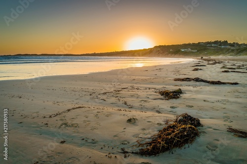 Photo Lorne beach in Victoria, Australia, at sunset