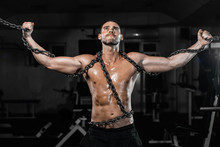 Muscular Man Slave In Chains I...