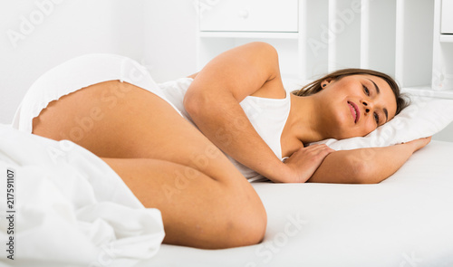 Fotobehang Akt Woman sleeping in bed