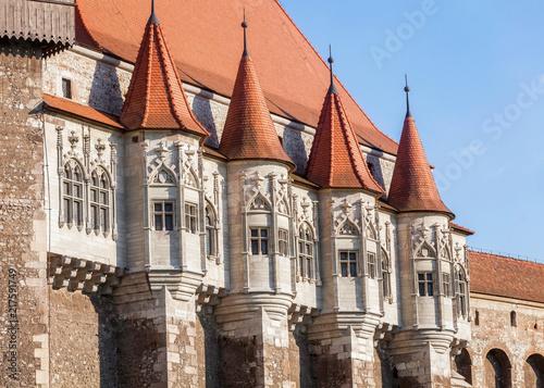 Foto op Plexiglas Oost Europa Medieval Hunyad Corvin Castle, Romania