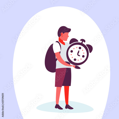 Casual Man Holding Clock Time Management Concept Male Planning Organization Cartoon Character Isolated Full Length Flat Vector Illustration Buy This Stock Vector And Explore Similar Vectors At Adobe Stock Adobe Stock