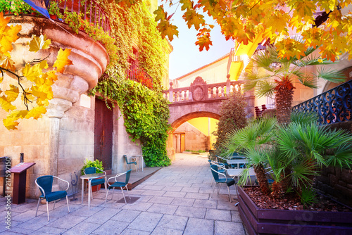 poble-espanyol-with-sunlight-traditional-architecture-site-in-barcelona-catalonia-spain-with-sunlight-at-fall-day