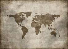 Classic Vintage Old Grunge World Map