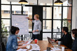 Business concept. Business people are meeting in the office. Businessmen are working together as a team.
