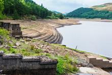View Of Derwent Dam And Reservoir, Upper Derwent Valley, Peak District National Park, Derbyshire, UK, Selective Focus