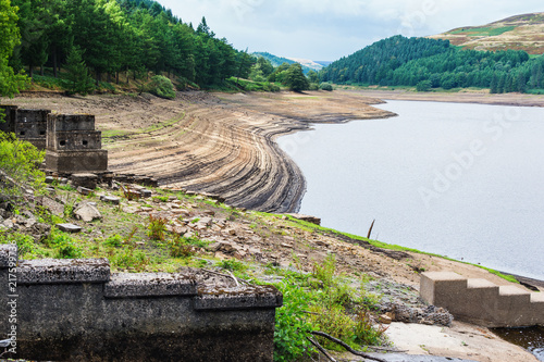 Fotografie, Obraz  View of Derwent Dam and Reservoir, Upper Derwent Valley, Peak District National