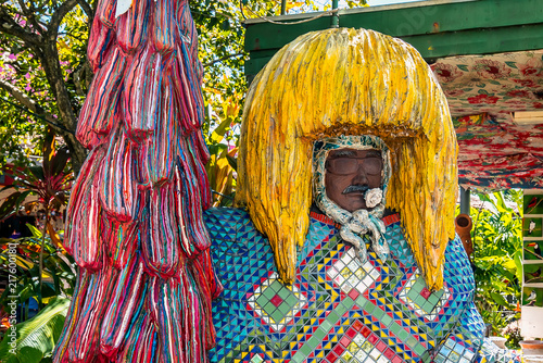 Foto  Brazilian Carnival Maracatu decoration in Olinda, Pernambuco Brazil