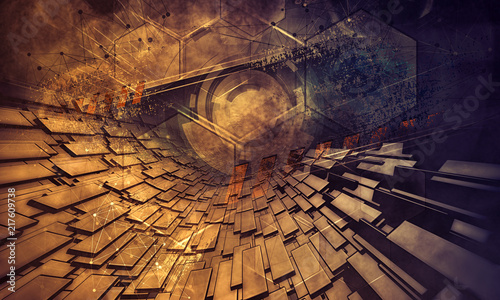 Fotografiet  Abstract technology concept background