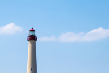 Cape May Lighthouse At Cape May Point State Park, New Jersey USA