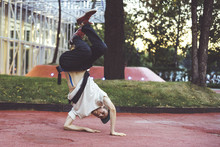 Young Man Urban Subculture Hip Hop Dance In The City Park