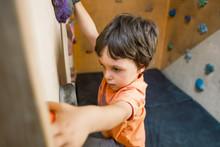 The Boy Trains On A Climbing W...