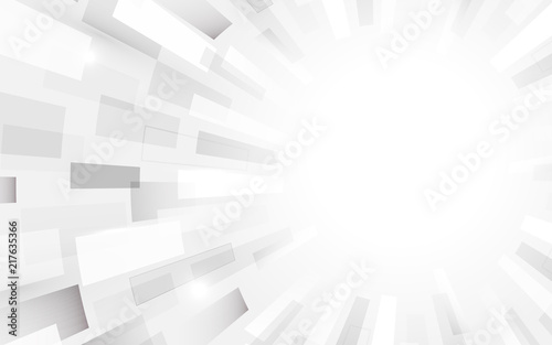 Fototapeta Abstract white and grey modern square shape with Halftone. Futuristic concept background obraz