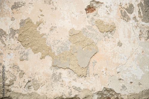 Aluminium Prints Old dirty textured wall Background of shabby stucco
