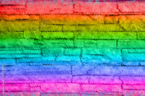 Fototapety, obrazy: Colorful green,pink,orange ,red and blue abstract background