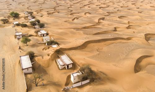 Recess Fitting Desert abandoned village in a desert near Dubai