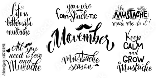 Photo  Movember pharses set