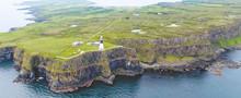 East Lighthouse Rathlin Island Aerial Photo Atlantic Ocean Co. Antrim Northern Ireland