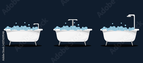 bathtub vector illustration