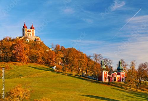 Calvary Banska Stiavnica is the most important Baroque calvary in Slovakia Fototapete