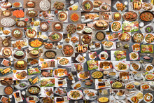 Collage Of Lots Of Food