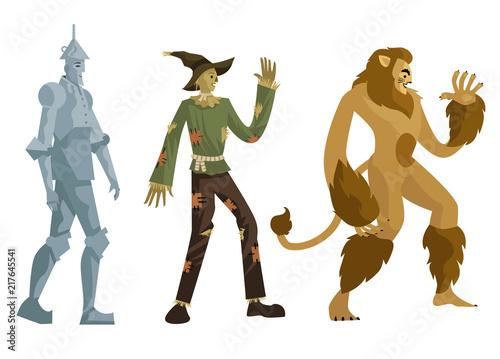 Fototapeta tin man, scarecrow and lion man