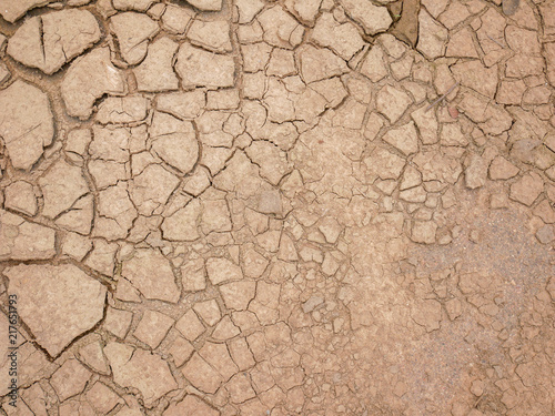 Foto op Aluminium Zalm abstract background rift of soil Climate change and drought land