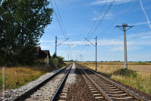 Fotografie, Obraz  Tory kolejowe