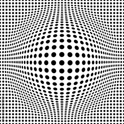 Obraz seamless background with optical illusion of a ball - fototapety do salonu