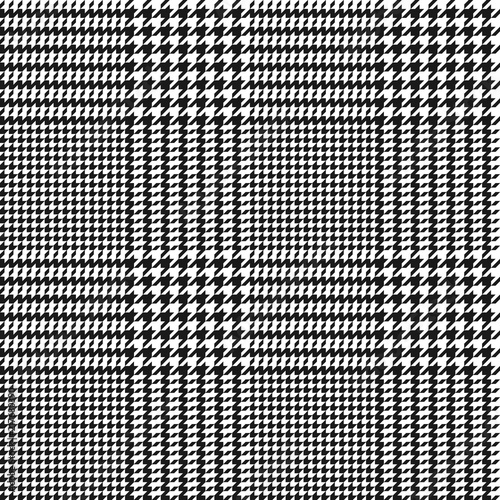 Photographie vector houndstooth seamless black and white pattern