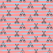 Seamless Hand Drawn Teepees An...