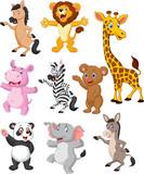 Wild animals cartoon collection set