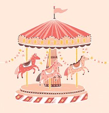 Old-fashioned Style Carousel, ...