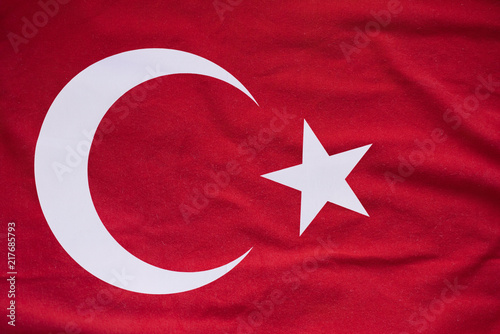 Keuken foto achterwand Turkije Large Background or Texture of Turkish Flag, high resolution Picture