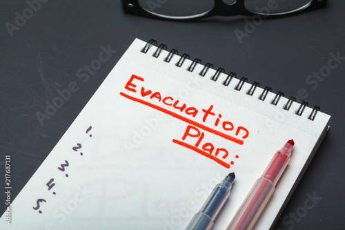 Carta da parati Emergency evacuation plan