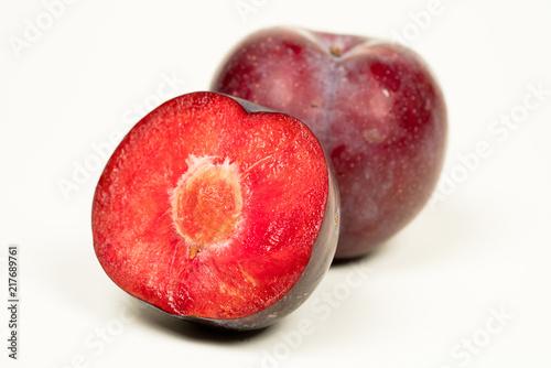 purple plum white background