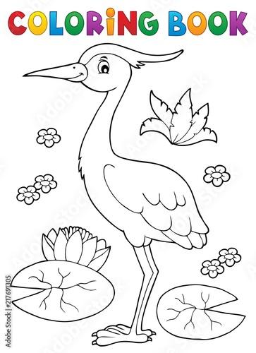 Poster Voor kinderen Coloring book bird topic 4