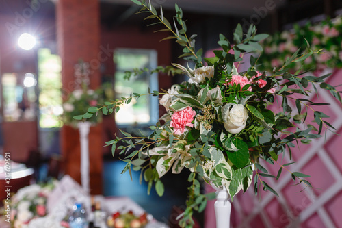 Festive Table Decoration In Lilac Colours Wedding Decorations A