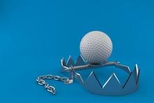 Golf Ball With Bear Trap