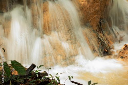 Poster Watervallen Waterfall background.
