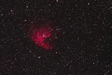 The Pacman Nebula NGC 281 in the constellation Cassiopeia as seen from Stockach in Germany.