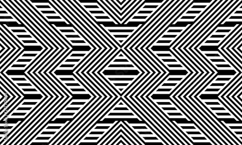 seamless-pattern-with-striped-black-white-straight-lines-and-diagonal-inclined-lines-zigzag-chevron-optical-illusion-effect-op-art-background-for-cloth-fabric-textile-tartan